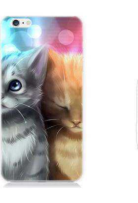 Teknomeg Apple iPhone 6S Yavru Kediler Desenli Silikon Kılıf