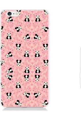 Teknomeg Apple iPhone 6S Plus Ufak Pandalar Desenli Silikon Kılıf