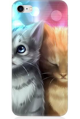 Teknomeg Apple iPhone 7 Yavru Kediler Desenli Silikon Kılıf