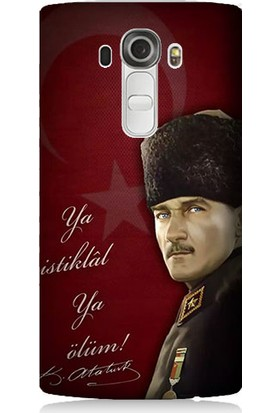 Teknomeg LG G4 Beat Atatürk Ya İstiklal Ya Ölüm Desenli Silikon Kılıf