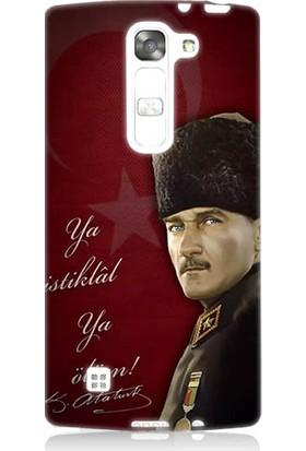 Teknomeg LG G4 Magna Atatürk Ya İstiklal Ya Ölüm Desenli Silikon Kılıf