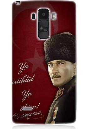 Teknomeg LG G4 Stylus Atatürk Ya İstiklal Ya Ölüm Desenli Silikon Kılıf