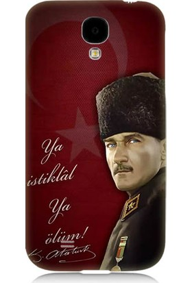 Teknomeg Samsung Galaxy S4 Atatürk Ya İstiklal Ya Ölüm Desenli Silikon Kılıf
