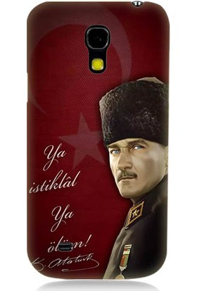 Teknomeg Samsung Galaxy S4 Mini Atatürk Ya İstiklal Ya Ölüm Desenli Silikon Kılıf