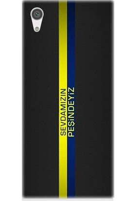 Teknomeg Sony Xperia Xa1 Ultra Sarı Lacivert Sevda Desenli Silikon Kılıf