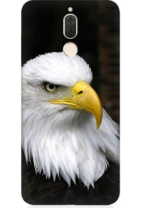 Teknomeg Huawei Mate 10 Lite Siyah Kartal Baskılı Silikon Kapak Kılıf