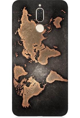 Teknomeg Huawei Mate 10 Lite Dünya Haritası Desenli Silikon Kılıf