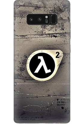 Teknomeg Samsung Galaxy Note 8 Half Life Baskılı Silikon Kapak Kılıf