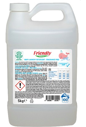 Friendly Organic Bebek Çamaşır Deterjanı - Parfümsüz 5 Lt