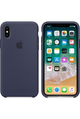 Apple iPhone X Silikon Kılıf GeceMavisi MQT32ZM/A (Apple Türkiye Garantili)