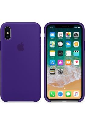 Apple iPhone X Silikon Kılıf Mor Ötesi MQT72ZM/A (Apple Türkiye Garantili)