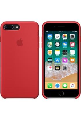 Apple iPhone8Plus / 7Plus Silikon Kılıf Kırmızı MQH12ZM/A (Apple Türkiye Garantili)