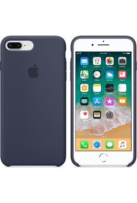 Apple iPhone8Plus / 7Plus Silikon Kılıf GeceMavisi MQGY2ZM/A (Apple Türkiye Garantili)