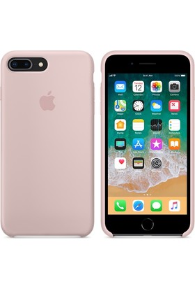 Apple iPhone8Plus / 7Plus Silikon Kılıf KumPembesi MQH22ZM/A (Apple Türkiye Garantili)