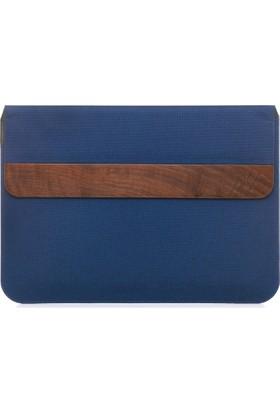 Woodcessories EcoPouch MacBook 15''El Yapımı Gerçek Ağaç / Deri Çanta