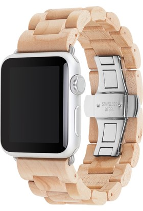 Woodcessories Apple Watch EcoStrap El Yapımı Gerçek Ağaç Saat Kordonu (38mm)