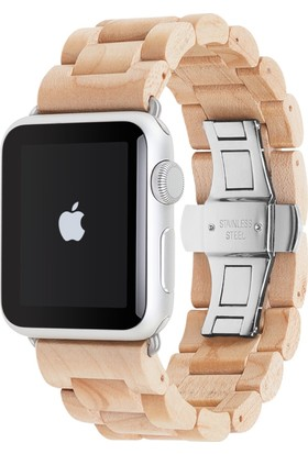 Woodcessories Apple Watch EcoStrap El Yapımı Gerçek Ağaç Saat Kordonu (42mm)