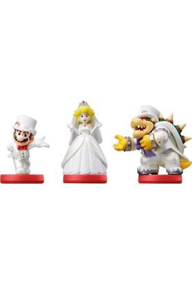 Nintendo Amiibo Super Mario Odyssey Mario + Peach + Bowser Figür