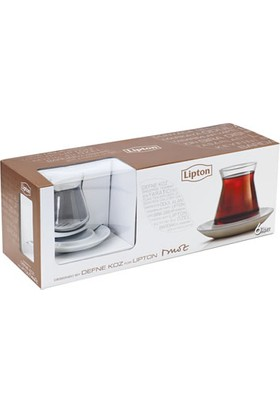 Kütahya Porselen Lipton Defne Koz Çay Bardağı 12 li