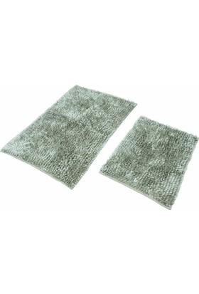 Şönil Mikrofiber Grey 2'li Banyo Paspası