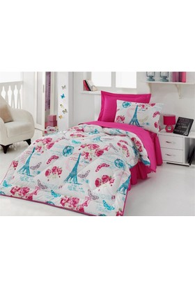 Cotton Box Pink Rose Ranforce Tek Kişilik Genç Uyku Seti