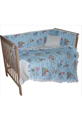 Gelişim Yatak Bebek Beşik Koruma Uyku Seti % 100 Pamuklu Uyku Seti