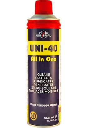 Flash Universal UNI-40 Çok Amaçlı Pas Sökücü ve Yağlayıcı Sprey 500ml