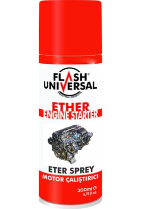Flash Universal Motor Çalıştırıcı Eter (Starter) Spreyi 200ml