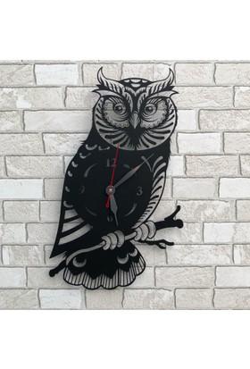 Dekoragel Baykuş Metal Duvar Saati
