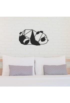Dekoragel Panda Classical Metal Duvar Tablosu