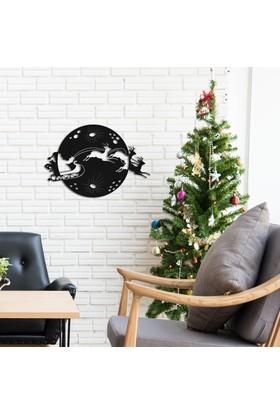 Dekoragel Noel Geyikleri II Metal Duvar Tablosu