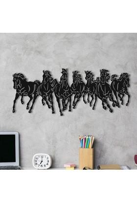 Dekoragel Atlar ''Yarış'' Metal Duvar Dekoru