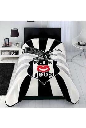Kristal Lisanslı Tek Kişilik Beşiktaş Kartal Battaniye