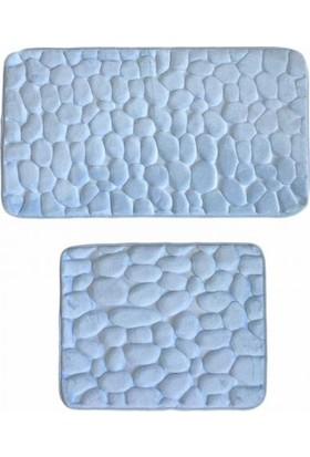 Giz Home Samos (Mavi) Taş Desen Klozet Takımı