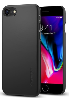 Spigen Apple iPhone 8 Kılıf Thin Fit Black - 054CS22208