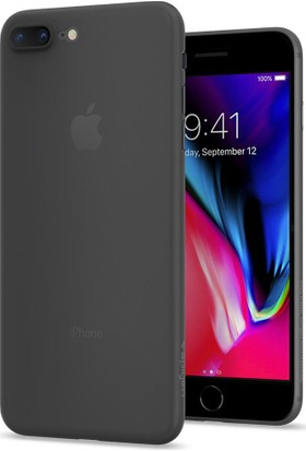 Spigen Apple iPhone 8 Plus Kılıf Air Skin (0.3 mm) Black - 055CS22594
