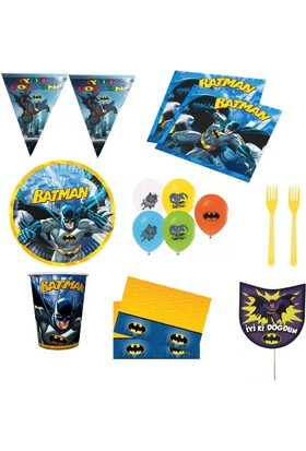 Rg Batman Betmen Doğum Günü Parti Malzemeleri Seti 16 Kişilik