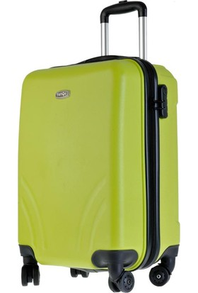 TUTQN Kırılmaz Plastik Bavul Kabin Boy Valiz %100 PP Yeşil