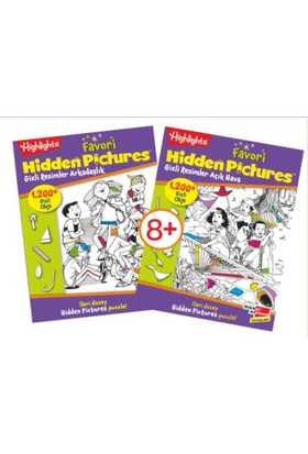Highlights Favori Hidden Pictures (Gizli Resimler) 2'li Set