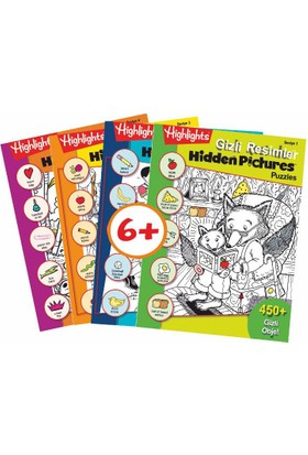 Highlights Hidden Pictures Puzzles (Gizli Resimler) 4'lü Set