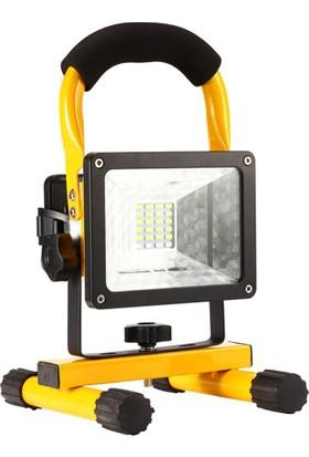 Odalight 10 W Taşınabilir Şarjlı Led Projektör Beyaz Işık