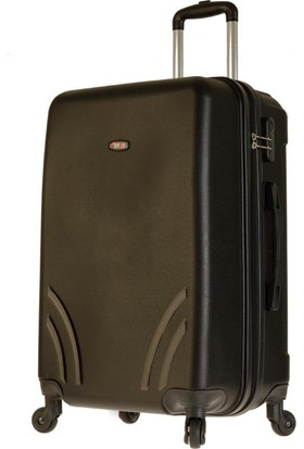TUTQN Kırılmaz Plastik Bavul Orta Boy Valiz %100 PP Siyah