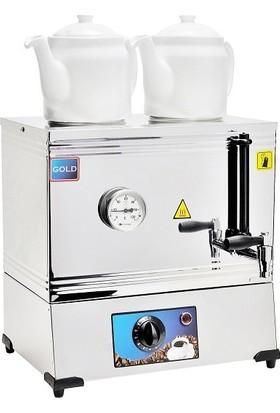 Emir Gold Elektrikli Çay Kazanı Çay Ocağı 2 Demlikli Pleytsiz