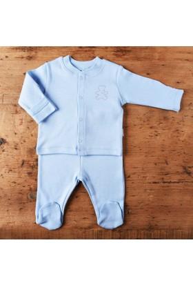 KitiKate Organik Bebe Pijama Takımı Mavi