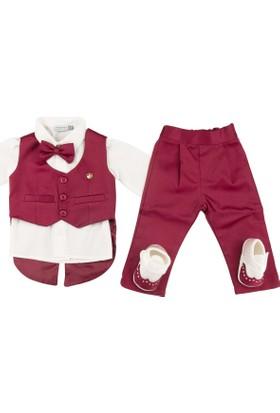 Pugi Baby 2032 Erkek Bebek Mevlüt Takımı Bordo