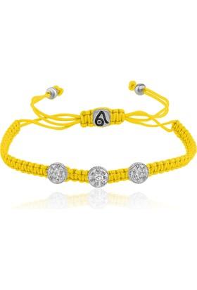 Coşar Silver Üç Noktalı İp Bileklik Sarı