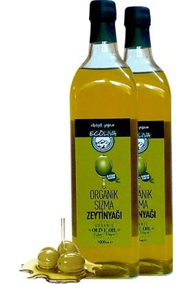 Ecoliva Organik Zeytinyağı Soğuk Sıkım 1000 ml