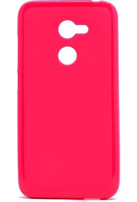 Etabibizde Alcatel A3 f Süper Parlak Silikon Arka Kapak Pembe + Nano Glass