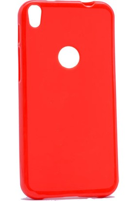 Etabibizde Alcatel Shine Lite Süper Parlak Silikon Arka Kapak Kırmızı + Nano Glass