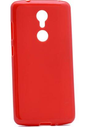 Etabibizde ZTE Axon 7 Mini Süper Parlak Silikon Arka Kapak Kırmızı